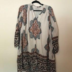 FREE PEOPLE long sleeve tunic dress w/ pockets!